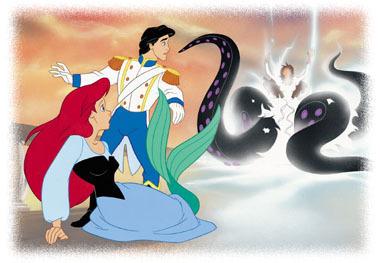 Walt Disney Book Images - Princess Ariel, Prince Eric, Ursula & Vanessa