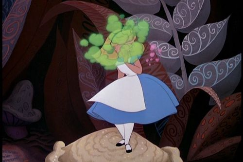 Classic Disney wallpaper possibly containing a parasol titled Alice In Wonderland