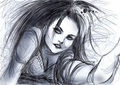 Amy Lee Drawings - amy-lee fan art