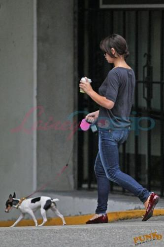 Ashley Walking her dog - August 13