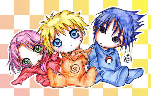 Baby naruto and friends