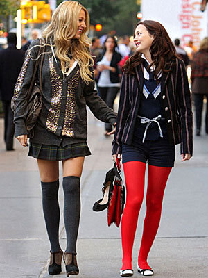 Girls of Gossip Girl Hintergrund with a hip boot titled Blair & Serena BFF'S!!!