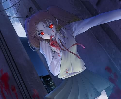 Bloody anime Girl