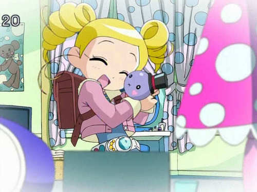 Bubbles (PowerPuff Girls) kertas dinding containing Anime called Bubbles