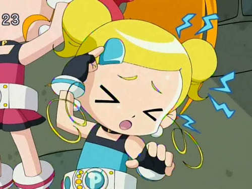 Bubbles (PowerPuff Girls) kertas dinding with Anime called Bubbles