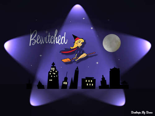 Bewitched دل Shaped Logo