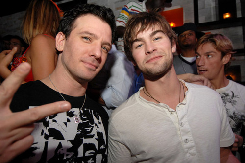 Chace Crawford and singer J.C.Chasez