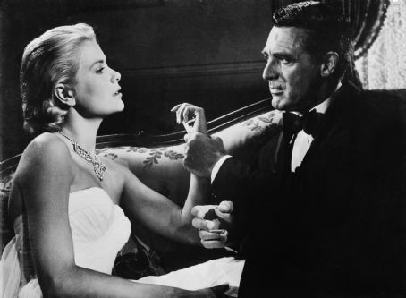 Cary Grant and Grace Kelly