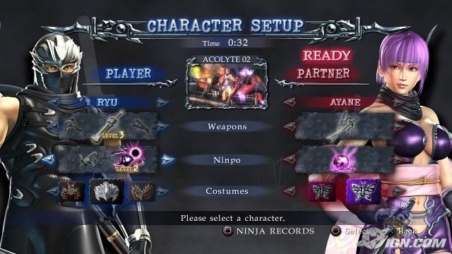 Ninja Gaiden 2 Co Op Select Screen Ninja Gaiden Photo