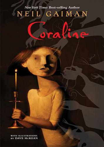 Coraline wallpaper possibly containing a sign, a newspaper, and anime titled Coraline book