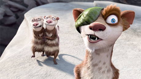 Ice Age: Crash & Eddie wallpaper possibly with an opossum, a raccoon, and a kitten called Crash and Eddie with Buck