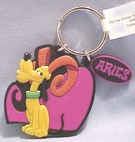 Pluto on Disney's Aries Keychain - keychains Photo
