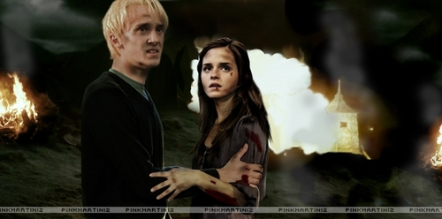 Dramione wallpaper containing a fire called Dramione
