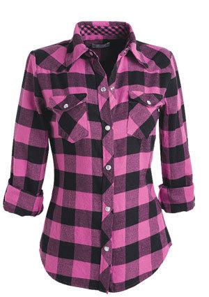 Teen Fashion wallpaper called Elisa Flannel Shirt
