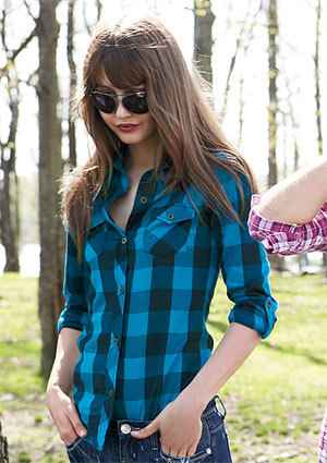 Elisa Plaid Shirt - teen-fashion Photo
