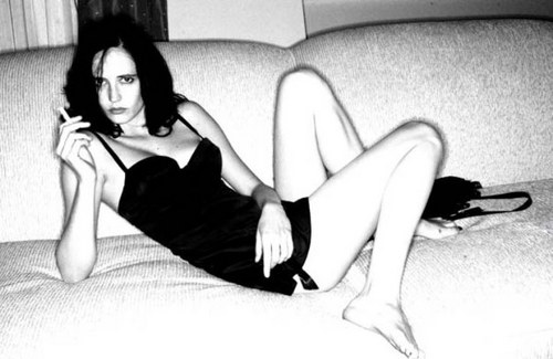 Eva Green wallpaper with bare legs, a leotard, and a bustier entitled Eva