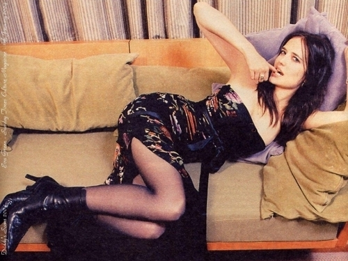 Eva Green wallpaper containing bare legs, hosiery, and tights titled Eva