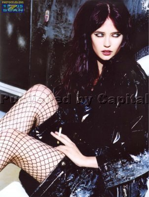 Eva Green wallpaper possibly with bare legs, hosiery, and a hip boot titled Eva