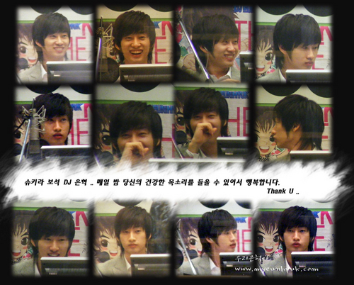 Hyukkie on halik Radio *.^