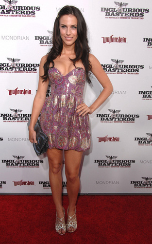 "Jessica Lowndes out for the LA premiere of ""Inglourious Basterds"""