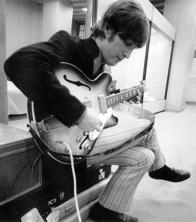 John Lennon and his Epiphone Casino