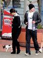 Kellan Lutz and Ashley Greene Walk the Dog - twilight-series photo