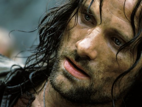 Aragorn Hintergrund probably with a portrait entitled King Aragorn