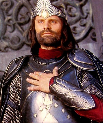 Aragorn fondo de pantalla with a breastplate and an armor plate entitled King Aragorn