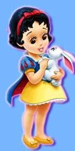 little disney princesses پیپر وال entitled Little Snow White