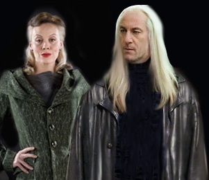 Lucius and Narcissa Malfoy wallpaper possibly containing a well dressed person, a box coat, and an outerwear entitled Narcissa and Lucius
