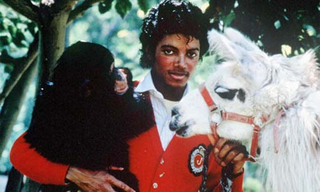 MJ Thriller era with his pets