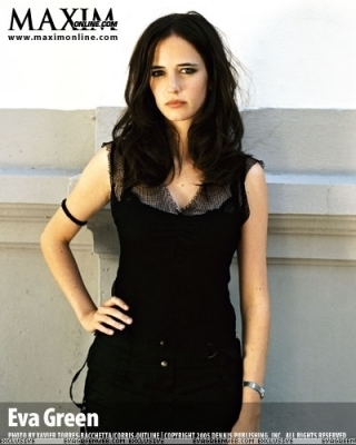 Eva Green wallpaper possibly containing a playsuit, a cocktail dress, and a top entitled Maxim Photoshoot
