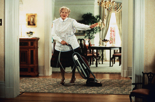 robin williams wallpaper containing a vacuum and a alat pengisap debu, hoover titled Mrs. Doubtfire
