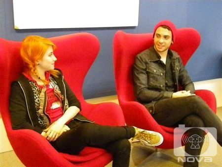 Brand New Eyes wallpaper possibly with a well dressed person, a business suit, and a couch entitled Nova 96.9 Interview