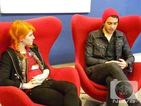 Brand New Eyes wallpaper with a couch, a well dressed person, and a throne entitled Nova 96.9 Interview