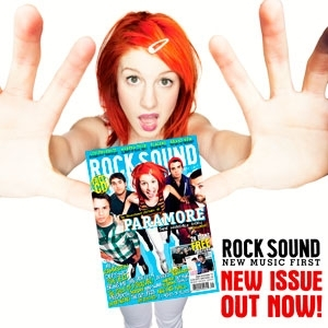 Brand New Eyes wallpaper containing a portrait called Paramore on Rock Sound cover (Issue 126)