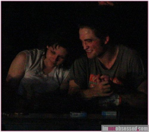 Rob & Kris in a concert at Vancouver