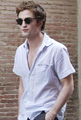 Rob at the New Moon set - twilight-series photo