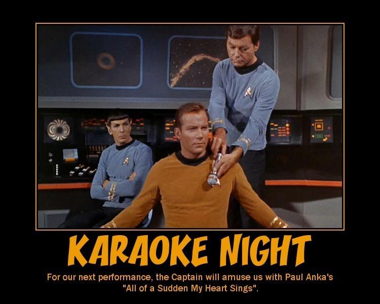 Funny Karaoke Memes : St tos inspirational posters star trek the original