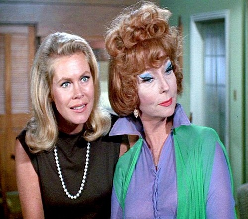 Elizabeth Montgomery wallpaper containing a portrait called Samantha and Endora