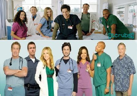 Scrubs Cast Season 1 & 8
