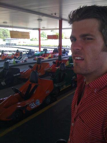 Sean with Go-Karts