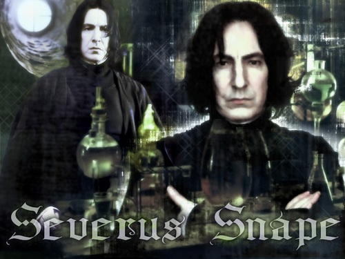 Severus Snape Hintergrund probably with a sign and a portrait entitled Snape