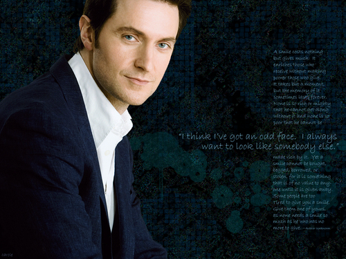 Richard Armitage wallpaper containing a business suit entitled The Smile