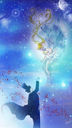 Tuxedo Kamen & Princess Serenity