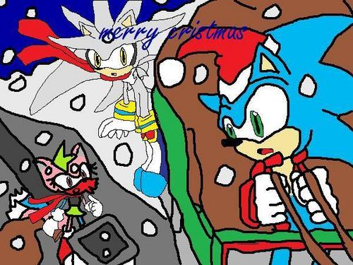 Sonic X wallpaper with anime titled a sonic cristmas