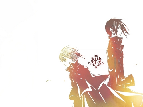 ciel and sebastian wallpaper - kuroshitsuji Wallpaper