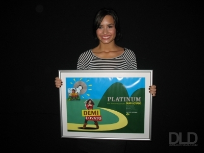 demi Platinum Disc in Brasil