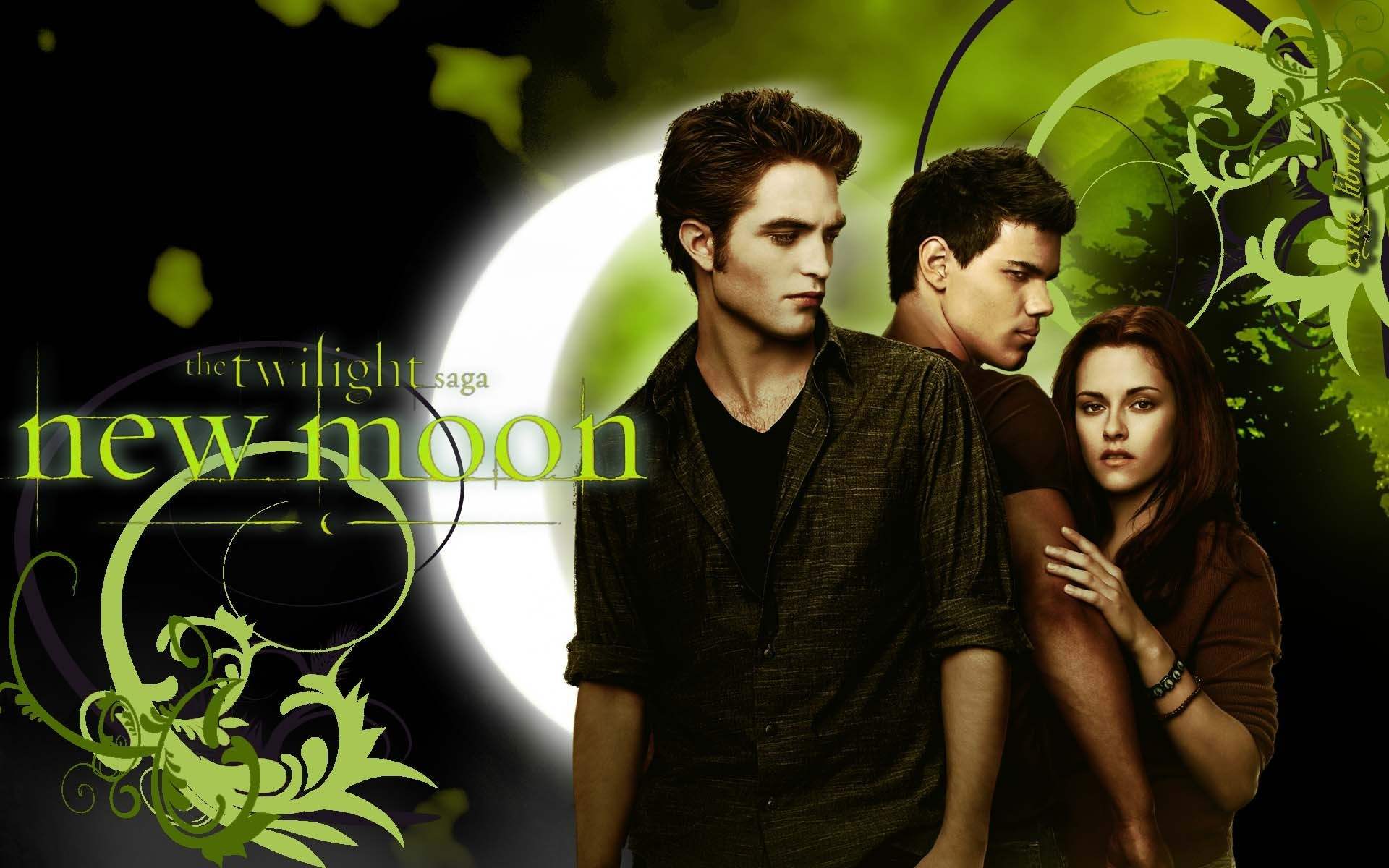twilight series jacob bella and edward wallpaper