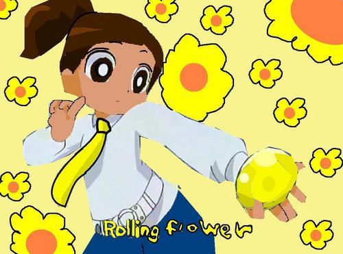 rolling flower!